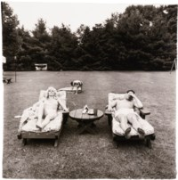 A family on their lawn one Sunday in Westchester, N.Y. 1968